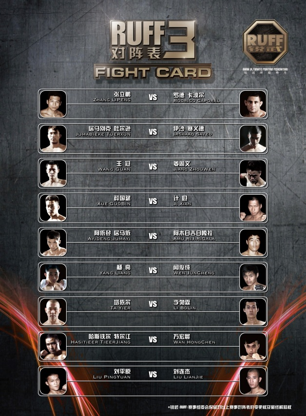 Fight Card FA 210x285mm