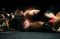 Joe ray wins with the arm-triangle submission