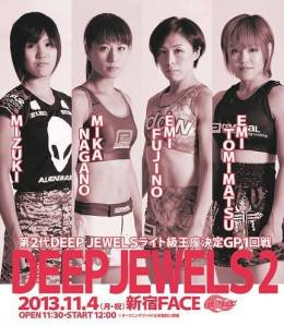 Official fight poster for DEEP Jewels 2.