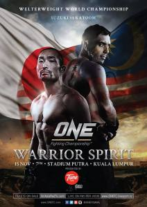 Official fight poster for ONE FC 12: Warrior Spirit.