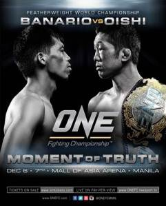 Official fight poster for ONE FC 13: Moment of Truth.