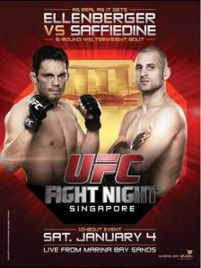Official fight poster for UFC: Singapore.