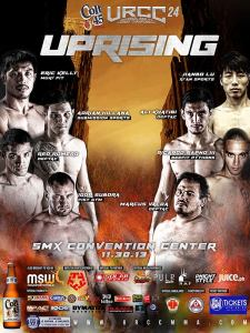 Official fight poster for URCC 24: Uprising.