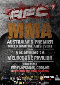 A promotional poster for the seventh installment of Australian Fighting Championship.
