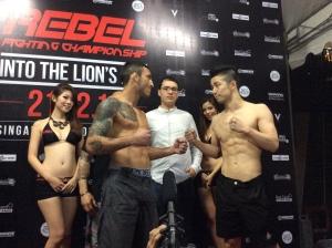 Marcos Vinicius (left) vs. Taiyo Nakahara (right)