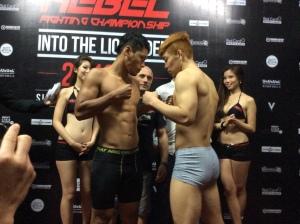 Syafiq Samad (left) vs. Gyo Pyung Hwang (right)