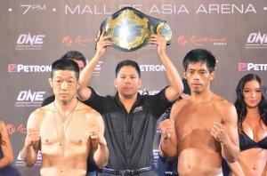 Koji Oishi (Left) vs. Honorio Banario (right)