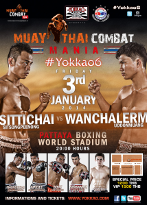 Promotional poster for Muay Thai Combat: Yokkao 6.