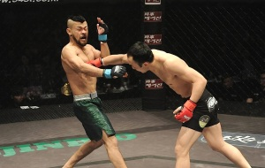 Soo Chul Kim shattered Motonobu Tezuka in their 135-lbs encounter.