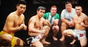 Tuerxun, along with his training partners at Phuket Top Team.