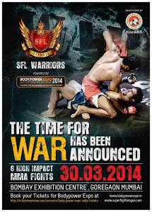 Promotional poster for the inaugural episode of SFL Warriors.