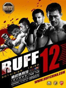 A promotional poster for RUFF 12.