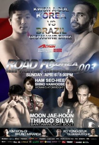 Promotional poster for ROAD FC - Korea 003.