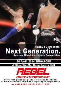 A promotional poster for REBEL FC: NEXT GENERATION.
