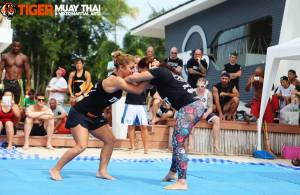 My first match with Paulina. (Picture credit: Tiger Muay Thai)